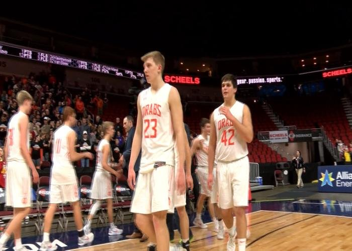 Sheldon beat Kuemper Catholic, 63-50, in the state tournament on Monday night.