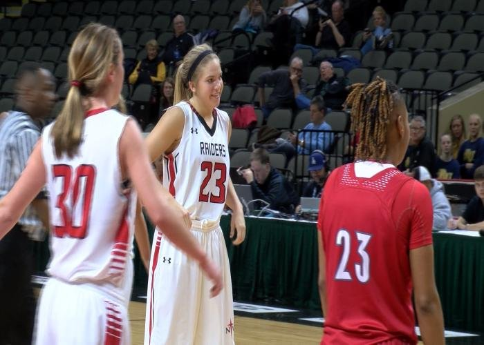 Anna Kiel had 20 points in Northwestern's win over Friends on Thursday at the NAIA Tournament.