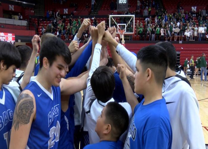 Winnebago beat Syracuse, 59-50, on Thursday at the Nebraska boys state tournament.