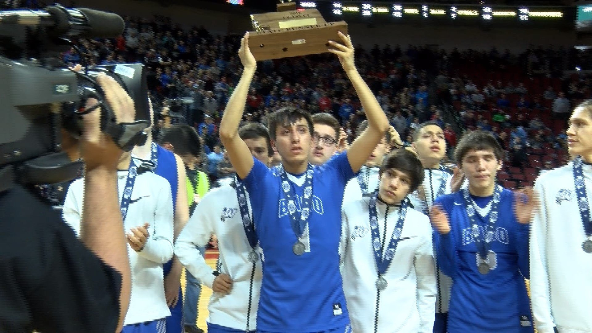 Winnebago finishes as C1 runners-up after a 70-66 overtime loss to Wahoo on Saturday.