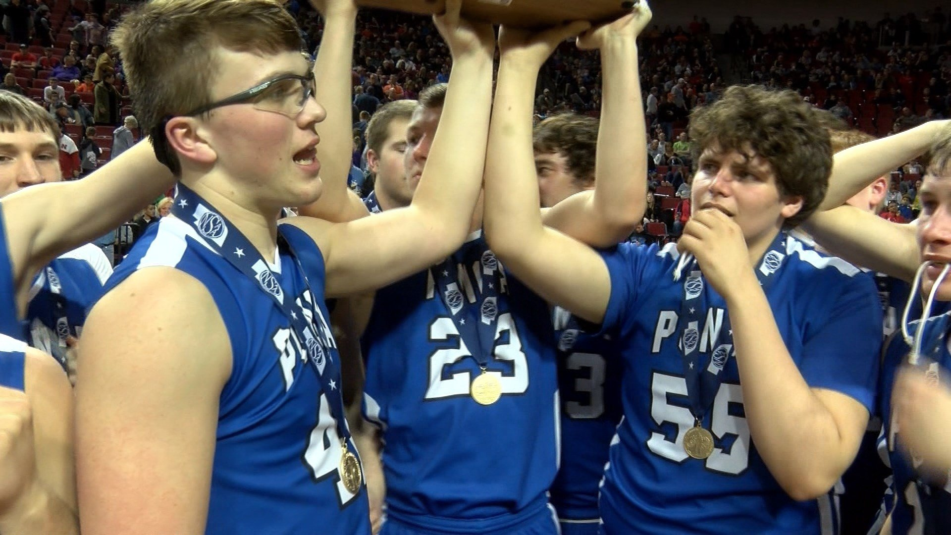 Ponca beat Hastings St. Cecilia on Saturday, 50-40, to win their second-straight Class C2 state championship.
