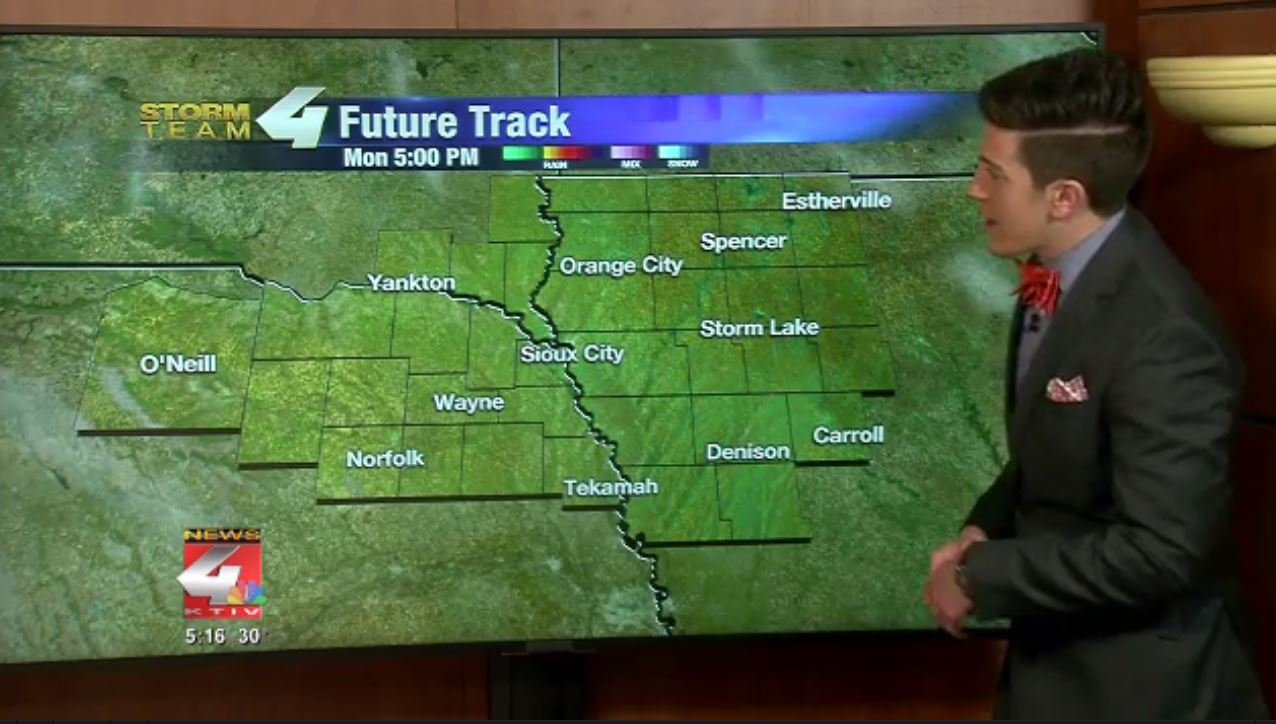Storm Team 4 Future Track including lots of blue skies on Monday.