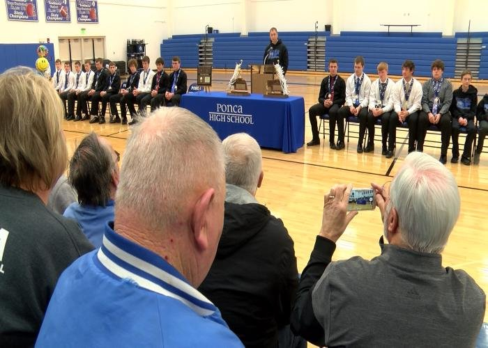Ponca celebrated their back-to-back state titles on Tuesday night.