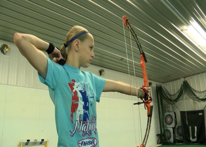 Lawton-Bronson's Breann Holtz is a national champion in archery.