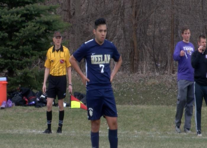 Marcos Azpeitia scored a goal in Bishop Heelan's win over Spencer on Friday.