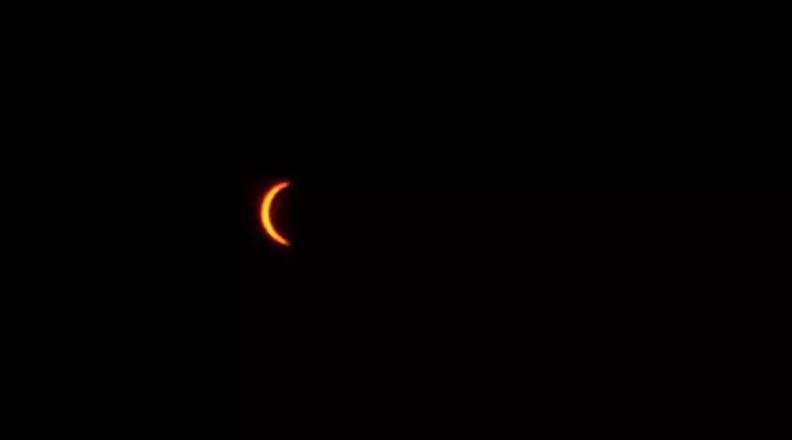 Photo Courtesy: Scott Locati - Solar eclipse in Sioux City