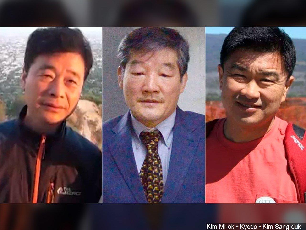 Americans held in North Korea (L-R) Kim Hak Song, Kim Dong Chul and Kim Sang Duk (Tony Kim)