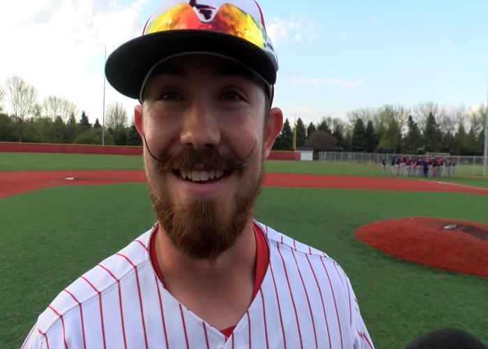 Northwetern senior Matt Martin says 'everyone' loves his mustache.