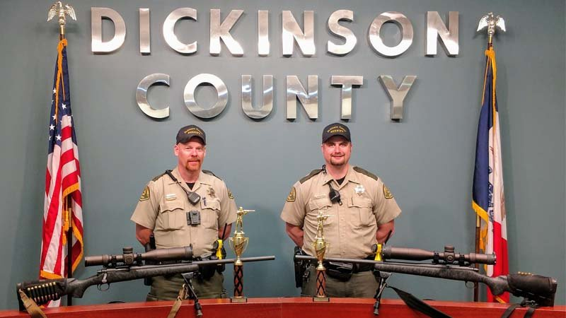 Photo Courtesy: Dickinson County Sheriff's Office - Iowa - Deputy Joshua Roberts (left) & Lt. Matt Grimmius (right)