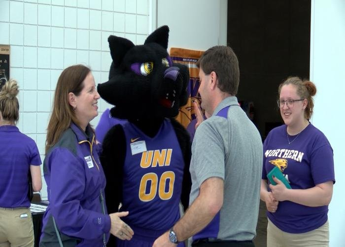 The UNI Panther Caravan stopped in Sioux City on Monday.