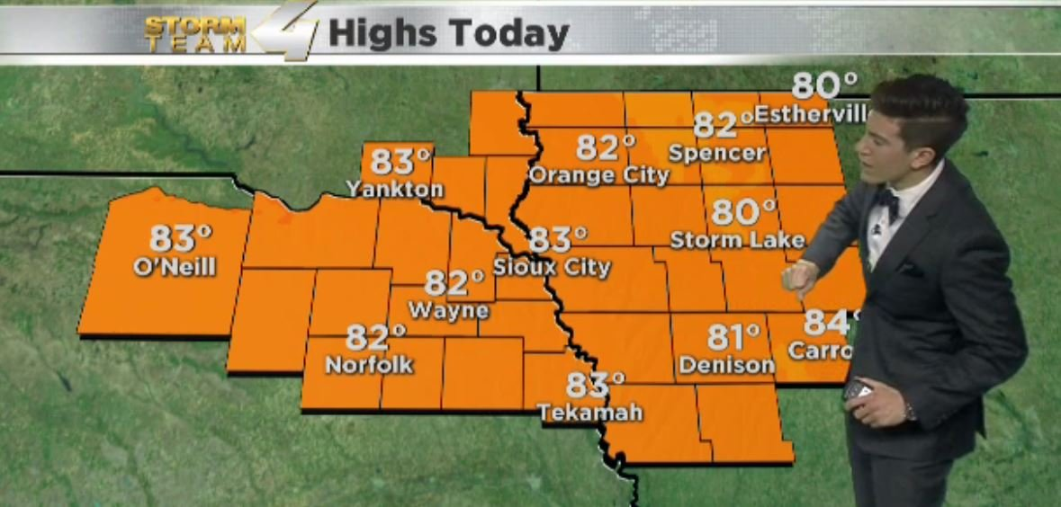 Expected Highs for Wednesday