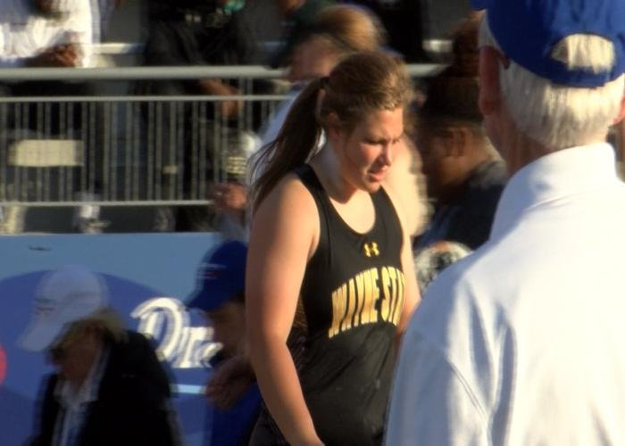 Wayne State's Michaela Dendinger is the NSIC Field Athlete of the Year.