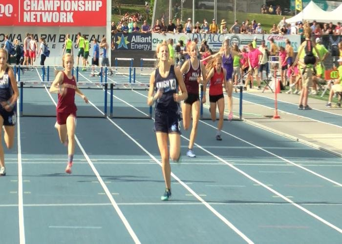 Unity Christian's Anmarie Stuit won the 400 meter hurdles title in Class 2A.