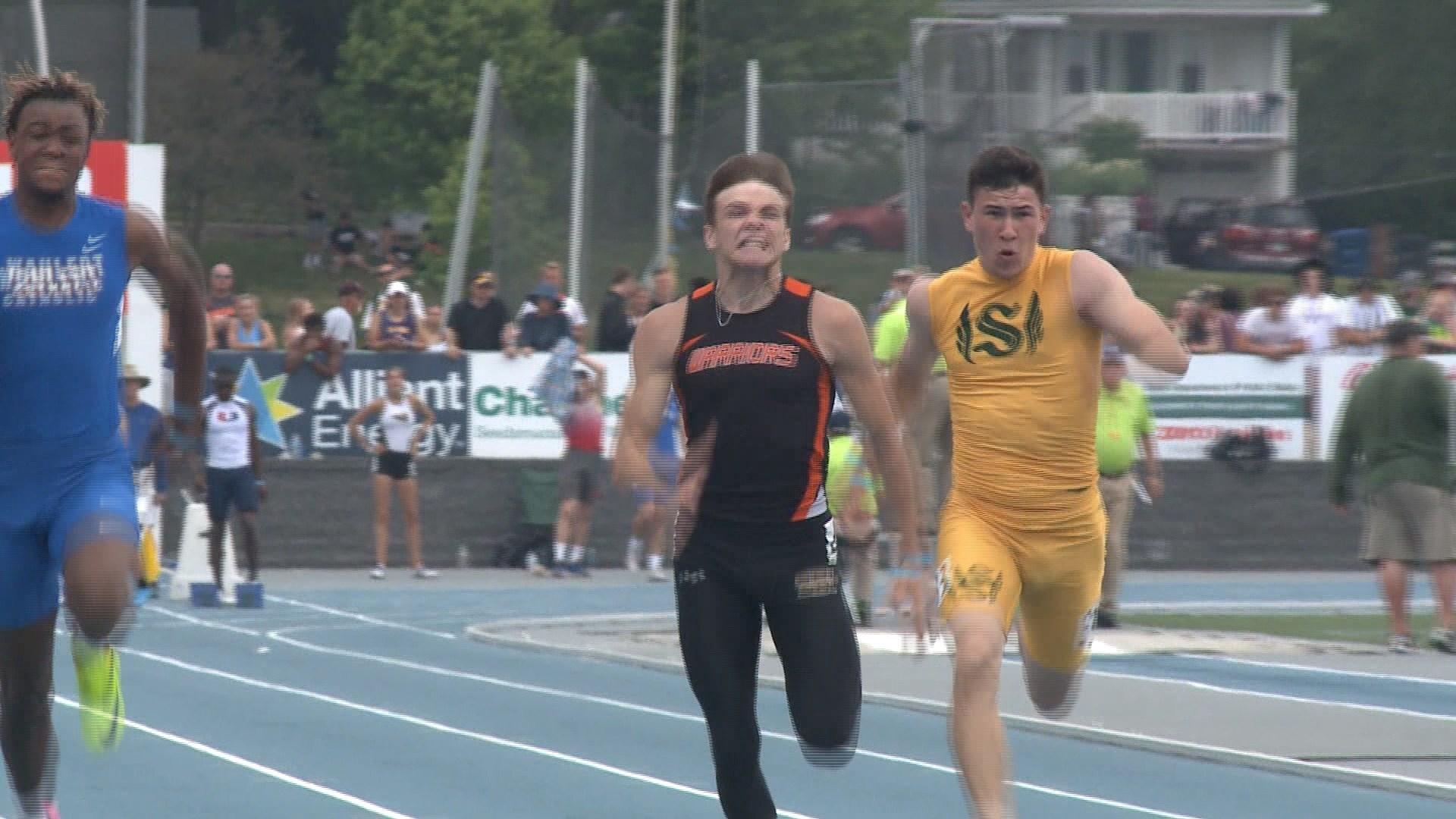 Sergeant Bluff-Luton's Jorma Schwedler won the Class 3A, 100 meter dash state championship on Saturday.
