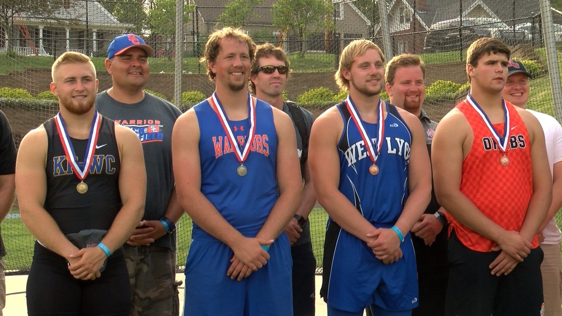 Siouxland throwers claimed the top four spots in the Class 2A discus competition on Friday.