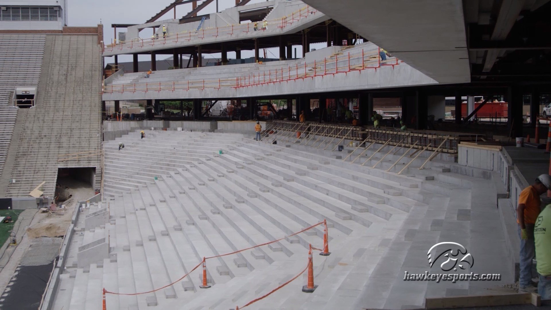 Almost 1,600 new outdoor club seats will be ready for use at Kinnick Stadium this fall.