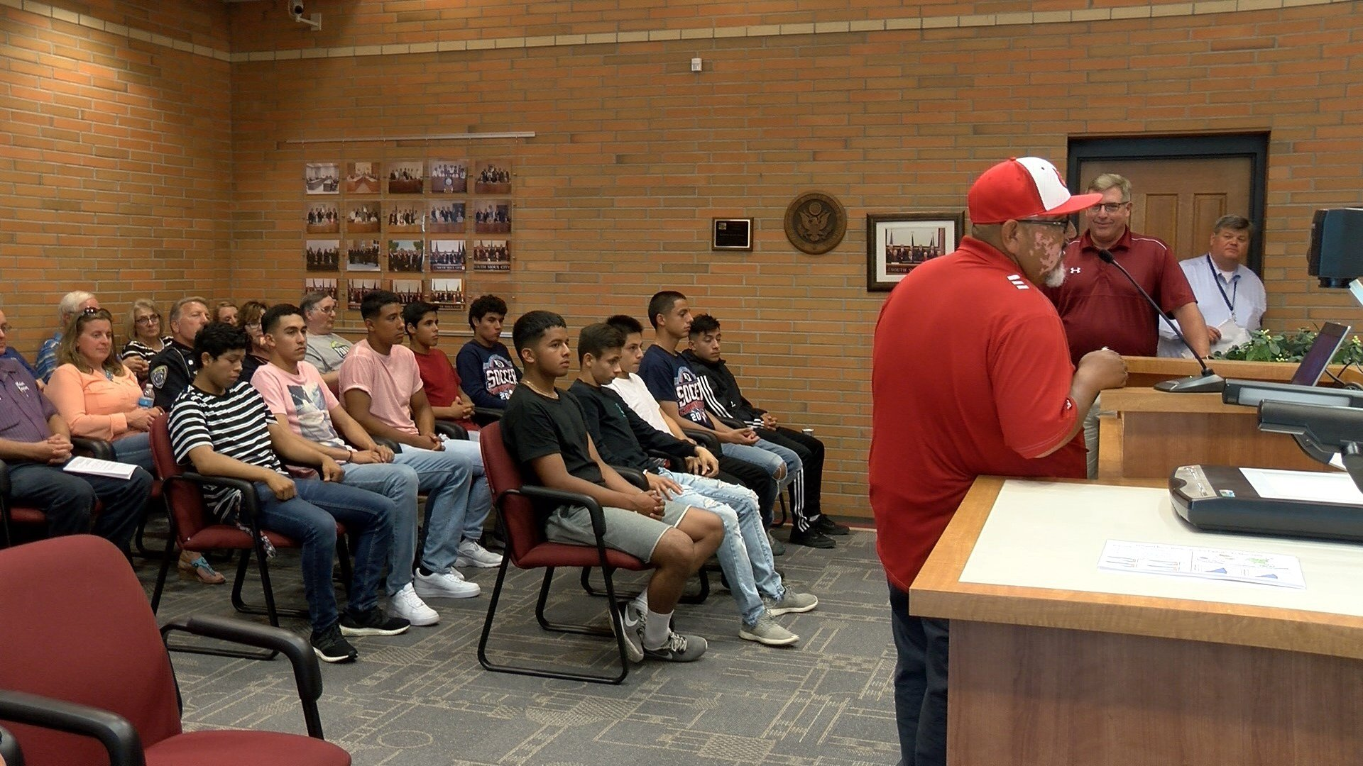 The South Sioux City boys were honored at Monday's city council meeting.
