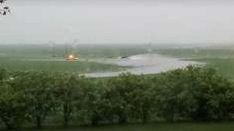 Photo Courtesy: Explore Okoboji - KUOO - Photo is in a field just east of Hartley. Highway 18 is in the foreground.