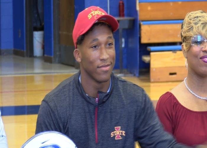Jirehl Brock has committed to play football at Iowa State.