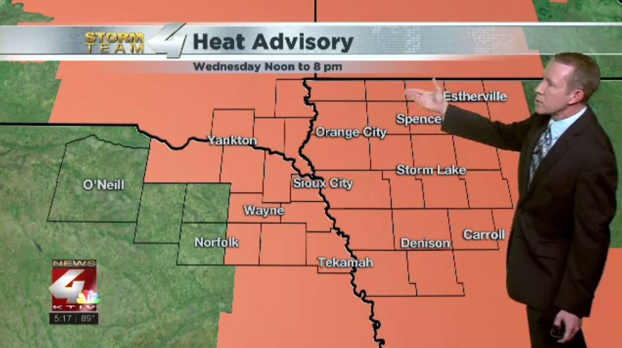 Heat Advisory Wednesday