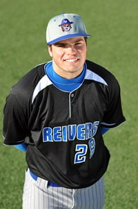 Damek Tomscha leads Iowa Western CC with 15 homers, 64 RBI's, while hitting .438.
