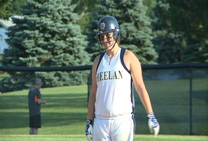 Maddie Heaton drove in two runs in the sixth inning as Heelan beat Sgt. Bluff-Luton, 5-2, on Monday.