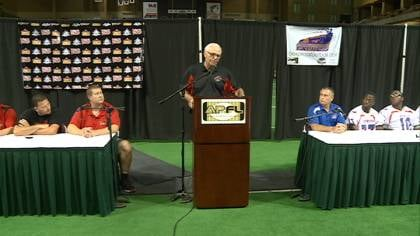 The Sioux City Bandits and Council Bluffs Express talk about Saturday's APFL final at a press conference Wednesday.
