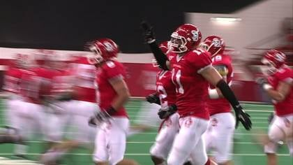South Dakota linebacker Tyler Starr (#11) has been named to The Sports Network Preseason All-America team.