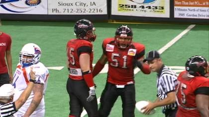 Spetlar Tonga recorded 19 tackles in the Bandits 56-34 APFL title victory.