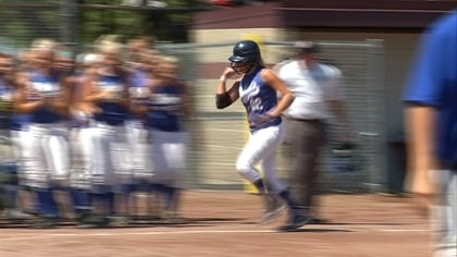 Nicole Dobernecker hit her 20th homer of the season in Charter Oak-Ute's 2-1 loss on Thursday.