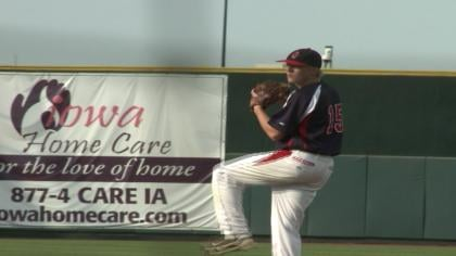 Austin Delp struck out five and only gave up two-hits in Alta-Aurelia's 1-0 loss to No. 1 Davis County.