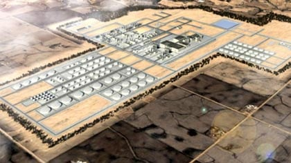 Rendering of $10 billion oil refinery in southeastern South Dakota