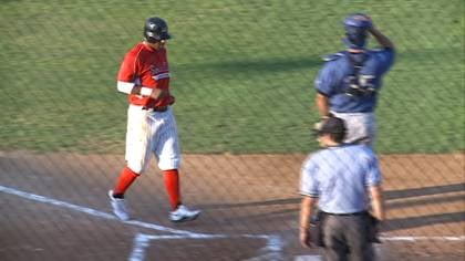 Brandon Newton scores a run during Sioux City's game with St. Paul on Monday night.