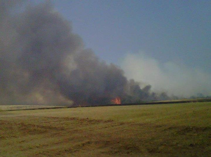 Eastern Flank of Wentworth Fire easy of Hwy 7. Courtesy: Niobrara National Scenic River