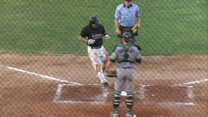 Ray Serrano crosses home plate after hitting a home run in Sioux City's win over Gary on Tuesday.
