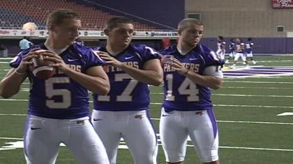 Northern Iowa has four players battling for the starting QB job.