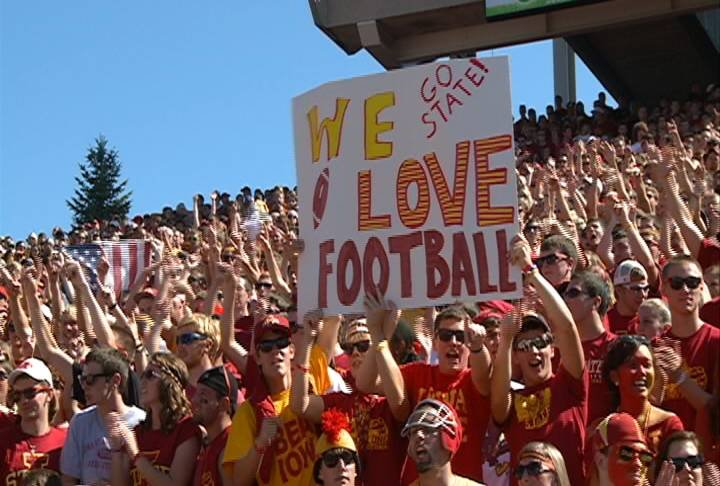 Iowa State has sold out of student football season-tickets for the 2012 season.