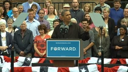 In Council Bluffs, Iowa, on Monday, President Obama slammed Paul Ryan on lack of farm bill vote.