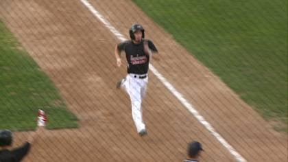 Mike Murphy scores a run during Sioux City's 10-7 win over Rockland on Tuesday night.