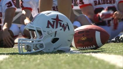 The Northwestern College football team is the coaches pick to win the GPAC this year.