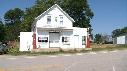 The old store in Hanover, Iowa used to draw people from miles around.  Now it's a draw for history buffs.