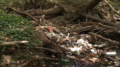 Trash piles in a ravine are an example of why Sioux City is launching new anti-litter campaign.