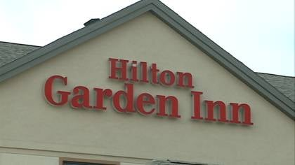 Exterior of Sioux City's Hilton Garden Inn.