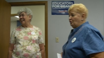 Obama supporters make case for President's stance on medicare.