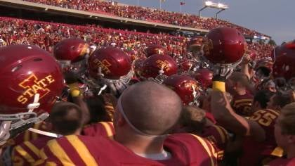 Iowa State is listed as a four point underdog for Saturday's game at Iowa.