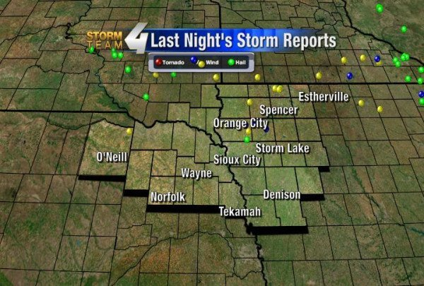National Weather Service confirmed storm reports from 9/5/12.