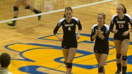 Dordt edged Briar Cliff, 3-2, in the GPAC volleyball opener for both schools.