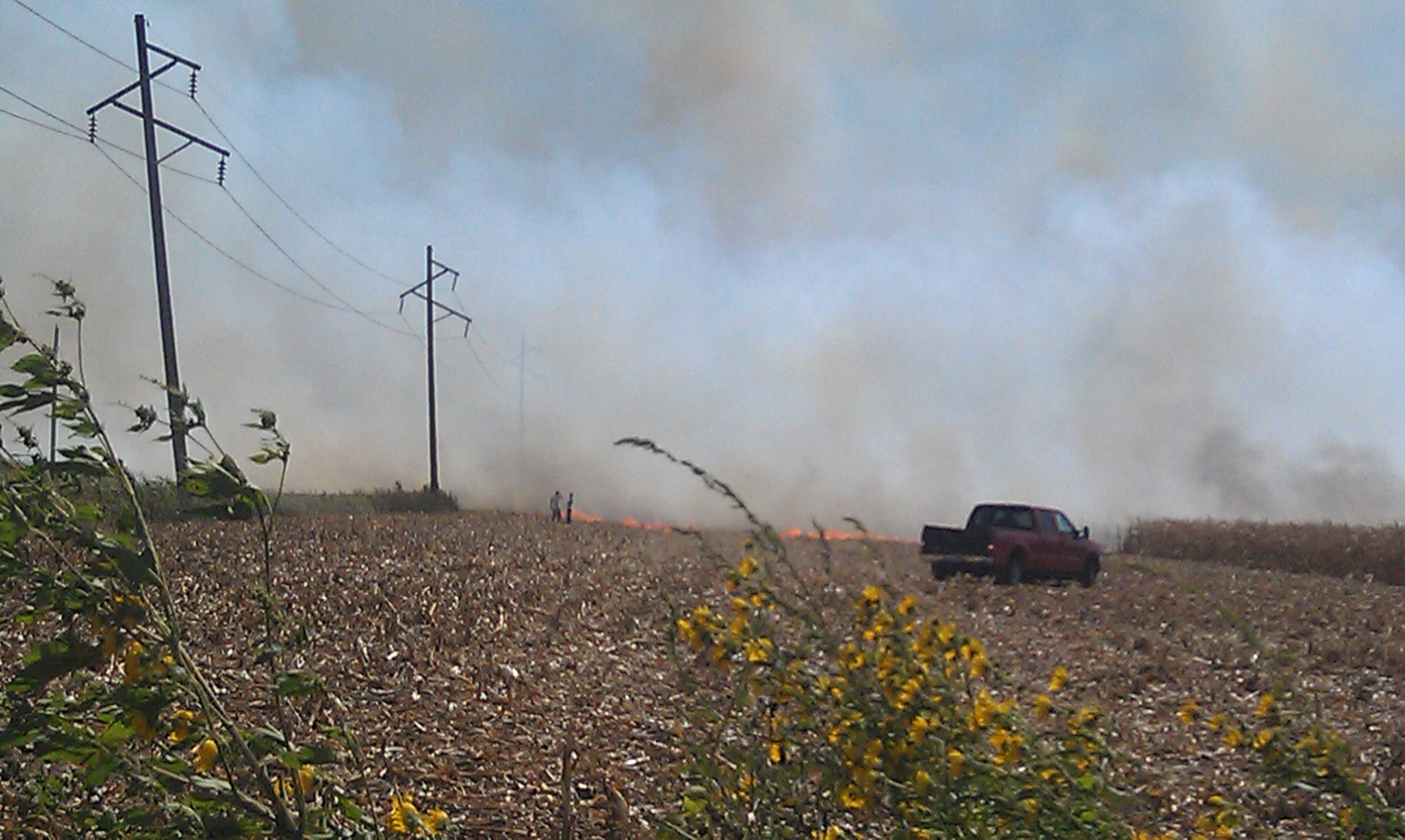 field fire near Salix, IA