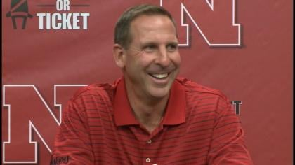 Bo Pelini was back at work following a health scare on Saturday.