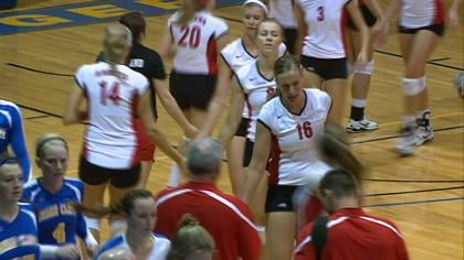 Northwestern swept Briar Cliff, 3-0, in GPAC volleyball action on Tuesday night.